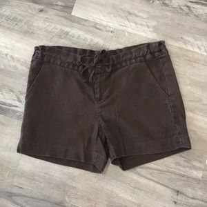 Eddie Bauer Brown Womens Linen Shorts
